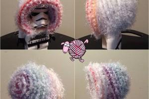 Fuzzy Rainbow Crochet Bonnet - Dearest Debi Patterns
