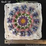 Crochet Butterfly Garden Afghan Block - Dearest Debi Patterns