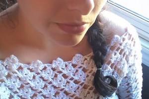 Crochet Flower Lattice Pullover Shrug - Dearest Debi Patterns