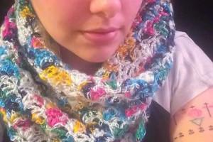 Crochet Lazy Shell Scarf Shawl - Dearest Debi Patterns