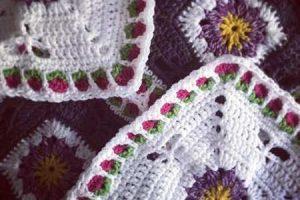 Dragonfly Garden Afghan Block - Dearest Debi Patterns