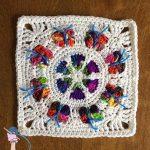 Butterfly Blossom Garden Square - Dearest Debi Patterns