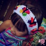 Crochet Butterfly Kiss Headband - Dearest Debi Patterns