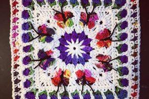 Blooming Garden Afghan Block 2.0 - Dearest Debi Patterns