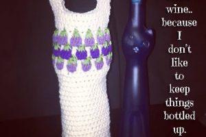 Crochet Grapes Make Wine Bag - Dearest Debi Patterns