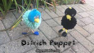 Ostrich Puppet - Dearset Debi Patterns